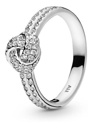 Anillo de compromiso pandora plata s925 nudo de amor