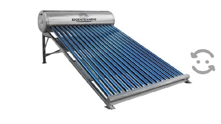Calentador solar bicentenario 16 tubos 5 personas