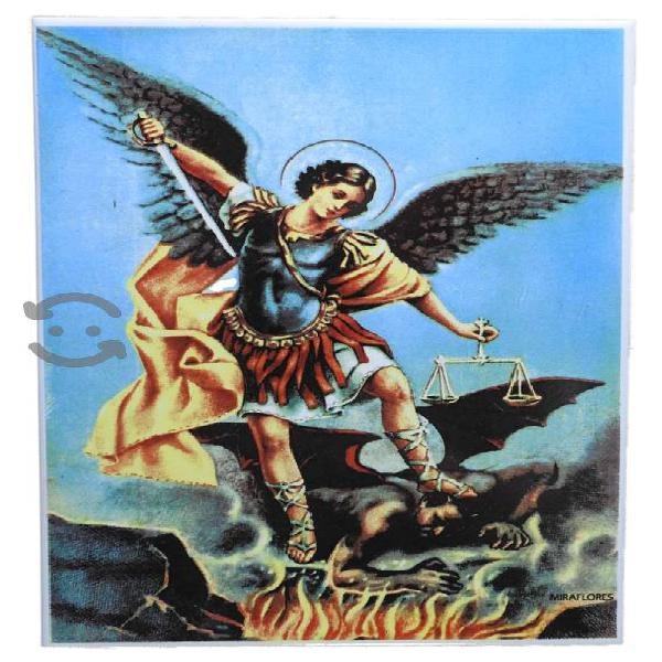 Imagen en azulejo de san miguel arcangel