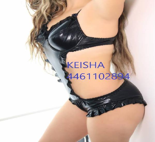 Keisha, ven a mi casa de 8 am a 8 pm, de lun-sab