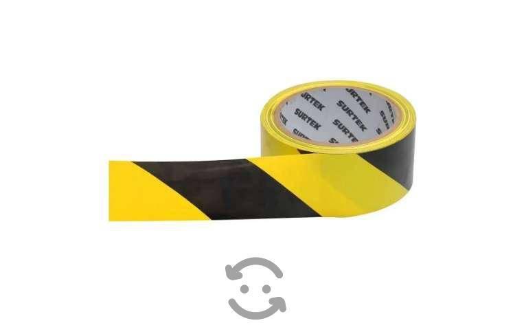 Kit de 45 cinta de señalización amarillo y negro