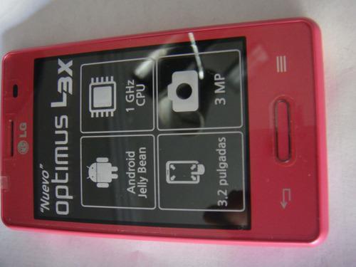 Lg optimus l3x nuevo telcel unico