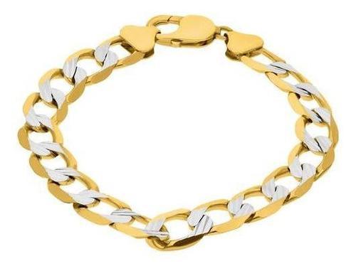 Pulsera bizzarro de oro amarillo con platinad-250gaxpde0121p