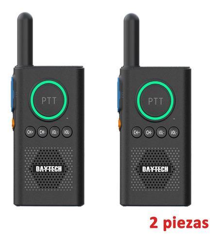 Radio walkie talkie recargable de dos vías y largo alcance