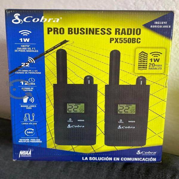 Radios prof base+pilas+auriculares+cables remató
