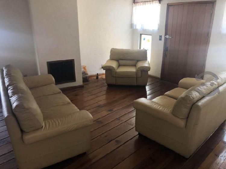 Sala piel 3 piezas individual, love seat y sofa