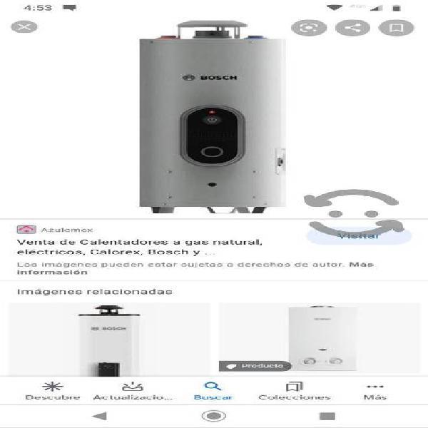 Boiler de paso bosch para dos servicios