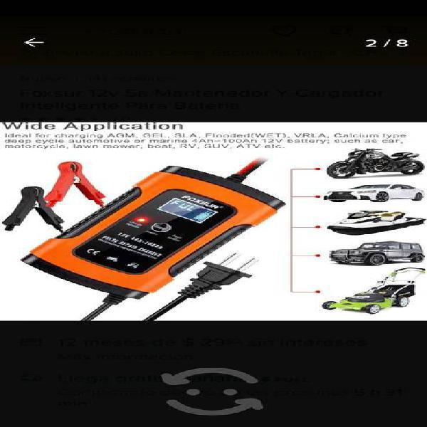 Cargador de batería nuevo inteligente para auto y