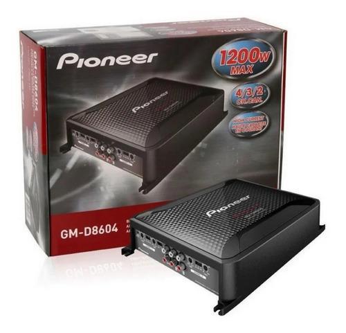 Amplificador pioneer 4 canales 1200w 8604 4/3/2 class fd