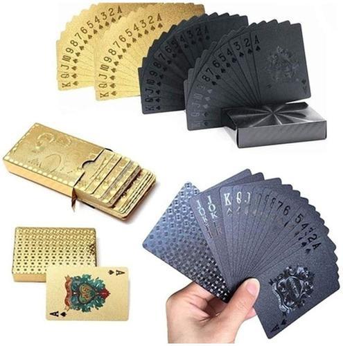 Cartas poker casino naipes chapa de oro, juegos de mesa.