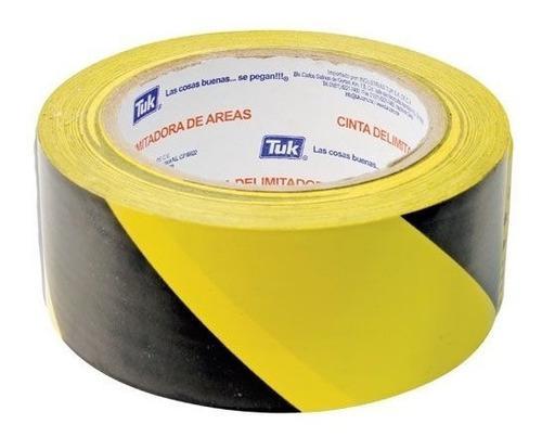 Cinta delimitadora de areas marca tuk amarillo con negro