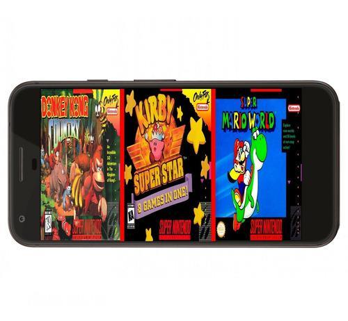 Coleccion juegos super nintendo snes celular