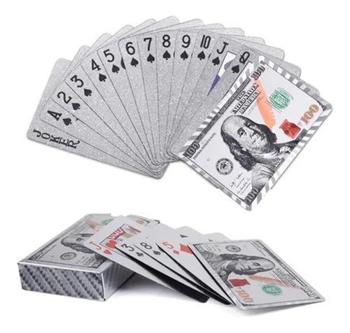 Dorado baraja cartas poker impermeable juego naipes