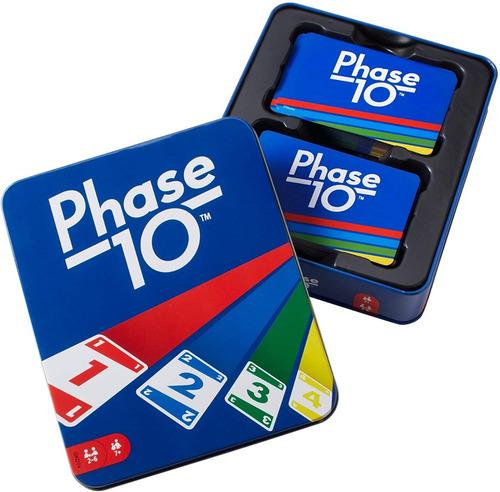 Juego de cartas phase 10 mattel edición especial estuche