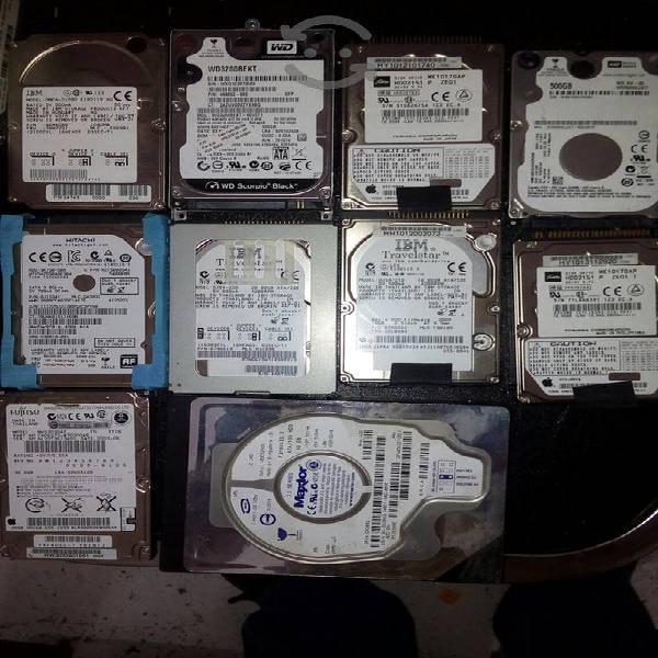 Lote de 11 discos duros de varias marcas