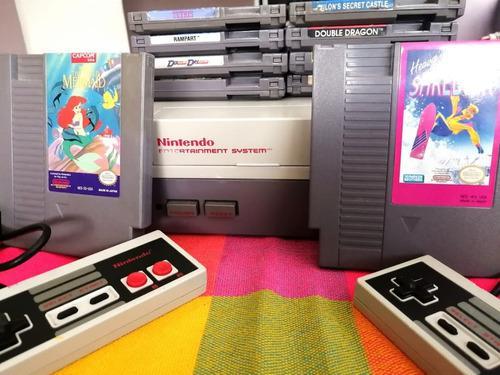 Nintendo nes consola retro con 10 juegos