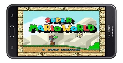 Super mario world + 10 juegos snes para android, pc y regalo