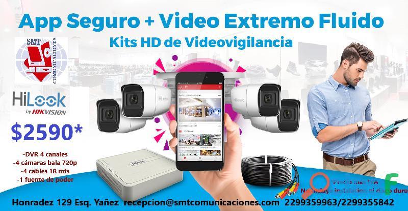 Kit hd de videovigilancia