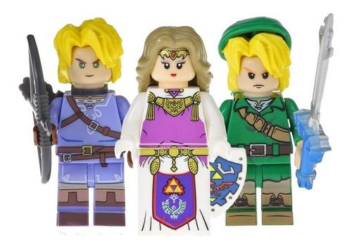 3 Figura Armable El Legendario Zelda Compatible Bloque