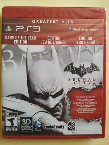Batman arkham city game of the year nuevo ps3 $299