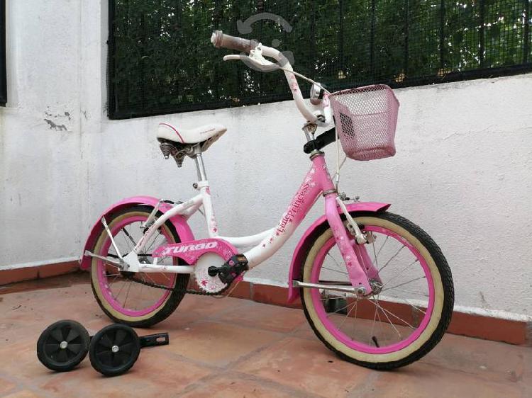 Bicicleta marca turbo r16 frenos ruedas laterales