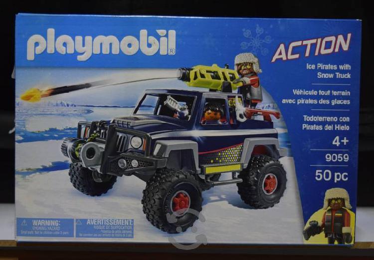 Playmobil todoterreno con pirata de nieve