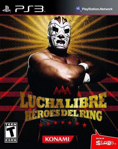 Ps3 - lucha libre aaa heroes del ring -juego físico