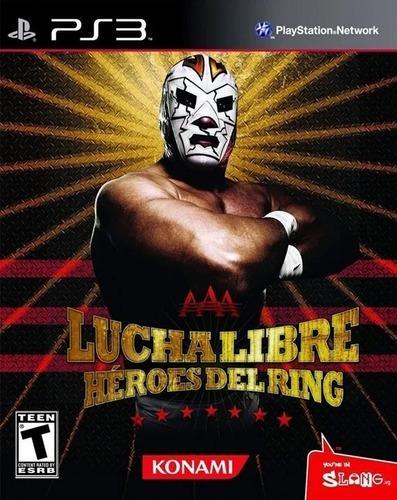 Ps3 - lucha libre aaa héroes del ring juego físico