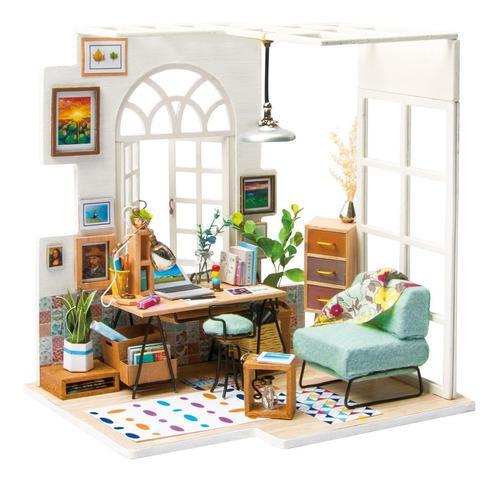Robotime casa miniatura soho time armar madera pintar decora