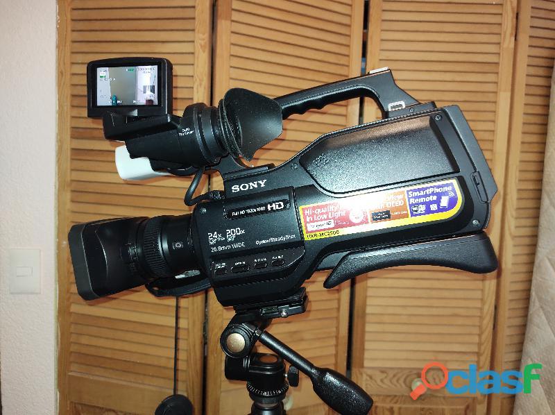 Videocámara sony hxr mc2500e