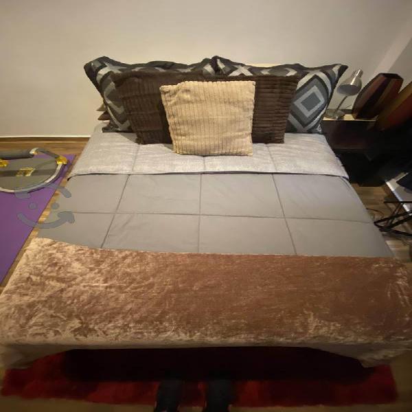 Base + colchón doble (matrimonial)