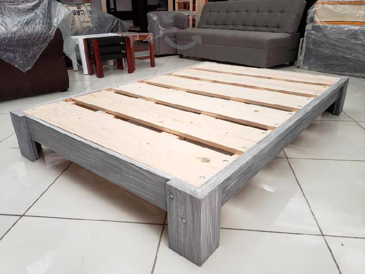 Base de cama king size gris altamente reforzada