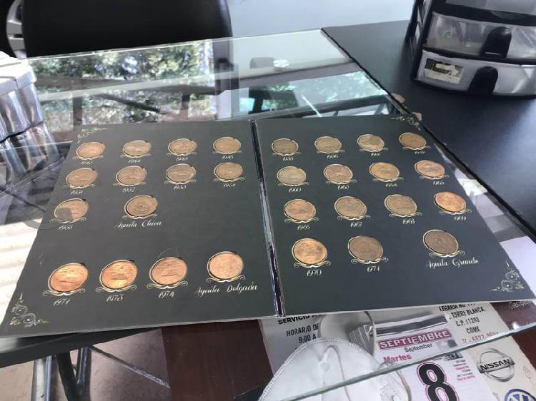 Colección monedas resplandor plata 20c teotihuacán