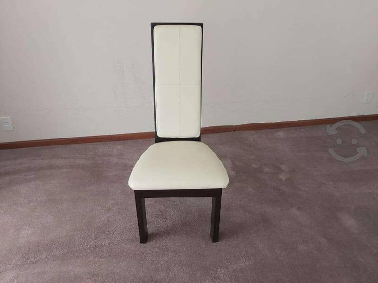 Comedor cuadrado 8 sillas color chocolate