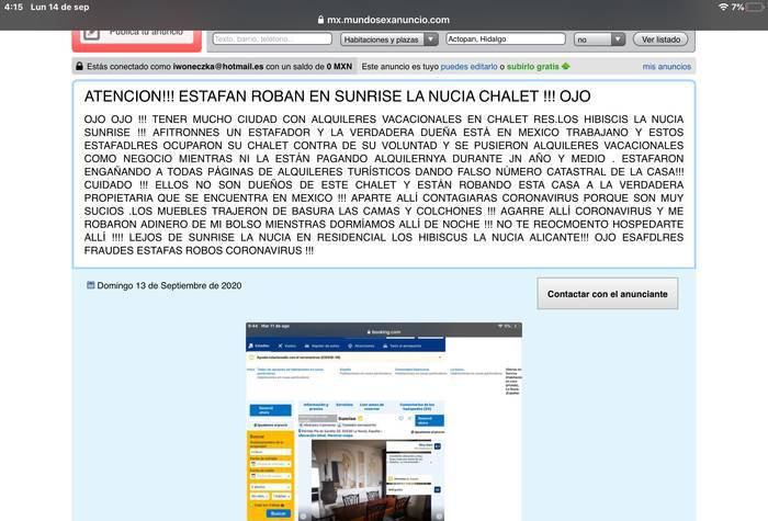 LADRONES OCUPAS SUNRISE LA NUCIA HABITACIONES ES ESTAFA !!!!