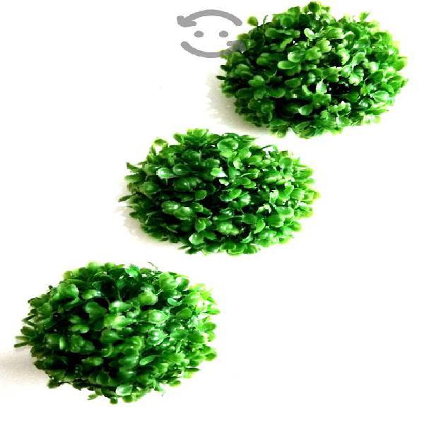 Pak 6 esferas topiario follaje 12 cms decora hogar