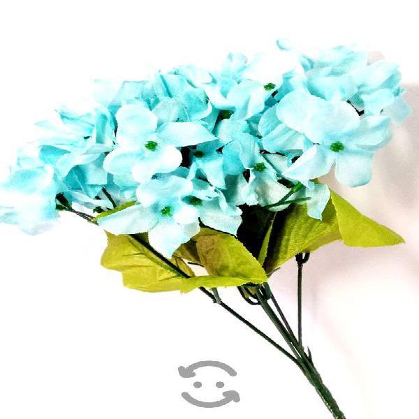 Pak 6 ramos hortensia azul menta decora hogar