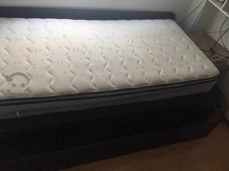 Se vende cama doble y librero moderno