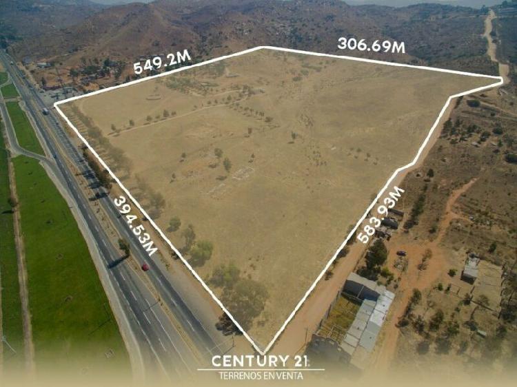 Terreno plano para parque industrial en venta en carretera
