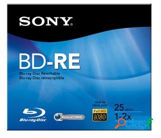Sony disco vírgen para blu-ray, bd-re, 2x, 25gb, 1 disco