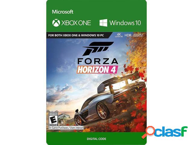 Forza horizon 4: standard edition, xbox one - producto digital descargable