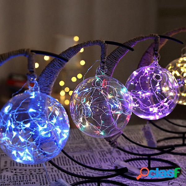 Luz de noche led hecha a mano de ratán bola marco de hierro forjado creativo decoración de la luz del hogar