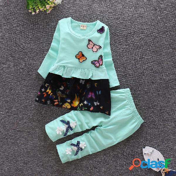 1-2-3 años de edad, ropa de bebé casual para niños