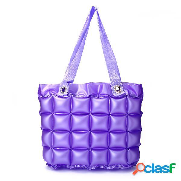 7 colores inflables bolsa de almacenamiento de viaje bolsa de gran tamaño impermeable bolsa de compras bolsa