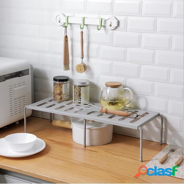 14 '' - 27 '' ampliable debajo del fregadero rack armario y gabinete estante de almacenamiento multifuncional hogar organizador para cocina dormitorio sala de estar