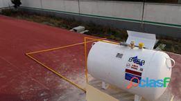 Tanque estacionario de 300lts con instalación de uso domestico