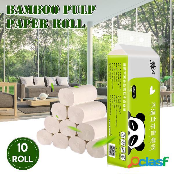 10 rollos de 4 capas soft papel higiénico para el hogar pulpa natural absorción de agua papel de disolución rápida