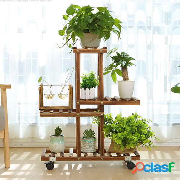 madera de bambú premium planta stand indoor al aire libre garden plantaer estante para macetas