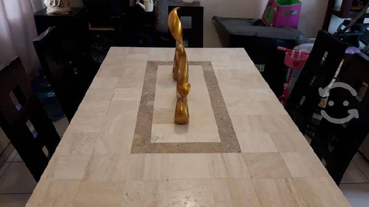 Comedor 6 sillas marmol