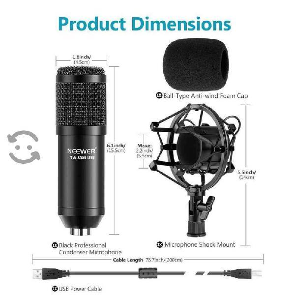 Estudio grabación neewer nw-800 micrófono profesio